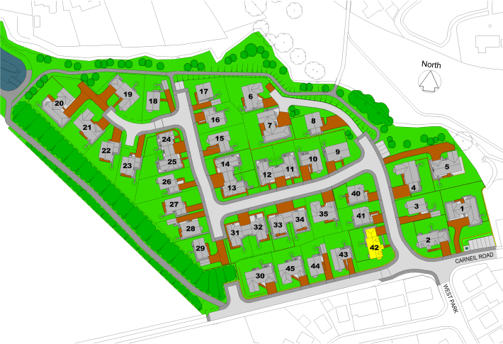 The Beeches Site Layout