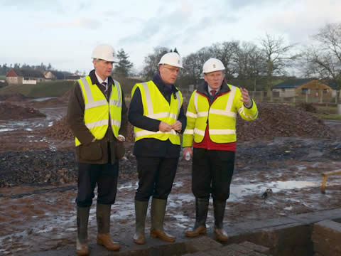 John Swinney visits new Stephen Development at Oakbank, Guildtown