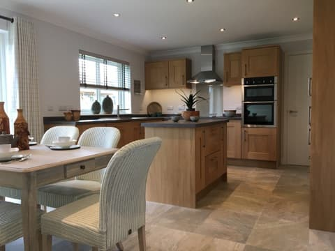 Kitchen of new Stephen showhome at Guildtown, Perthshire