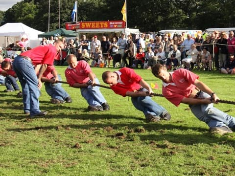 Stephen sponsor Pitlochry Highland Games tug of war