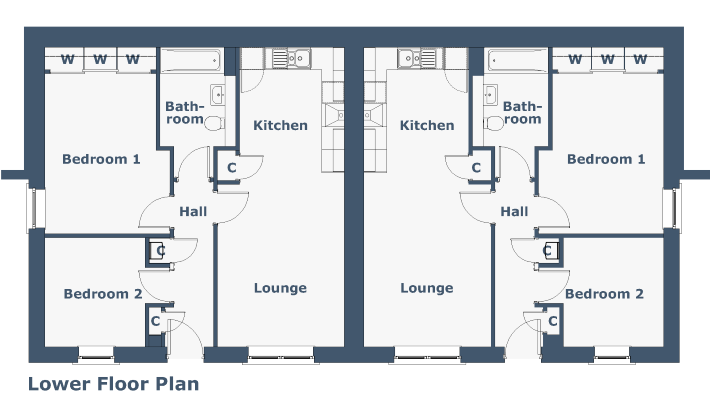 Ivy Apartment Floorplan
