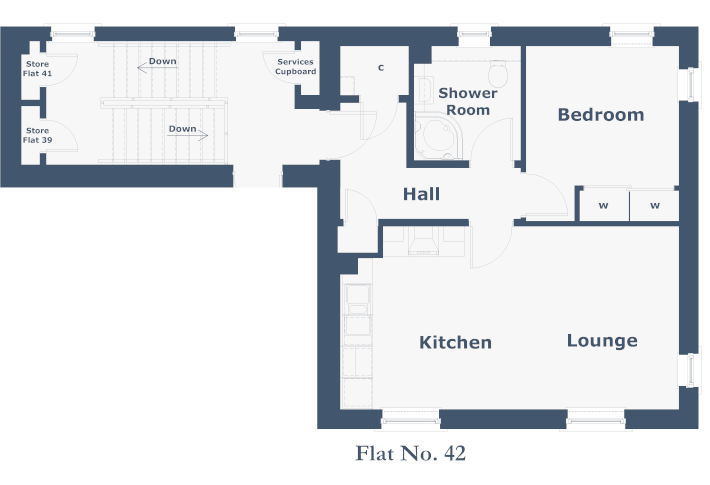 Cromarty Second Floor Flat Floorplan